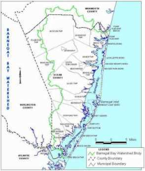 {Map of Barnegat Bay}