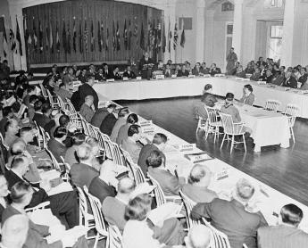 {Bretton Woods conference in 1944}