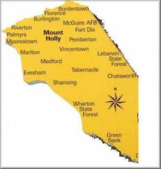 {Burlington County Map}
