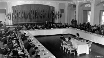 {The Bretton Woods conference in 1944}