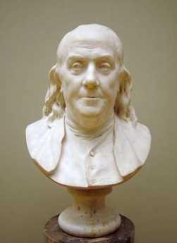 {Bust of Benjamin Franklin}