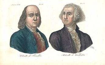 {Benjamin Franklin and George Washington}