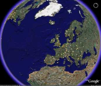 {Take a satellite tour of nearly every place Ben Franklin ever visited.}